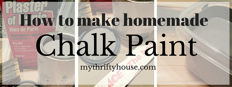 How to Make Homemade Chalk Paint Banner