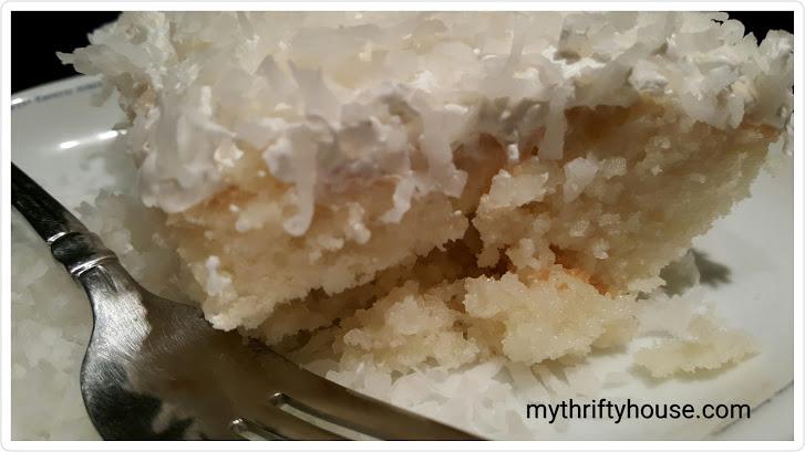 Family favorite, coconut poke cake
