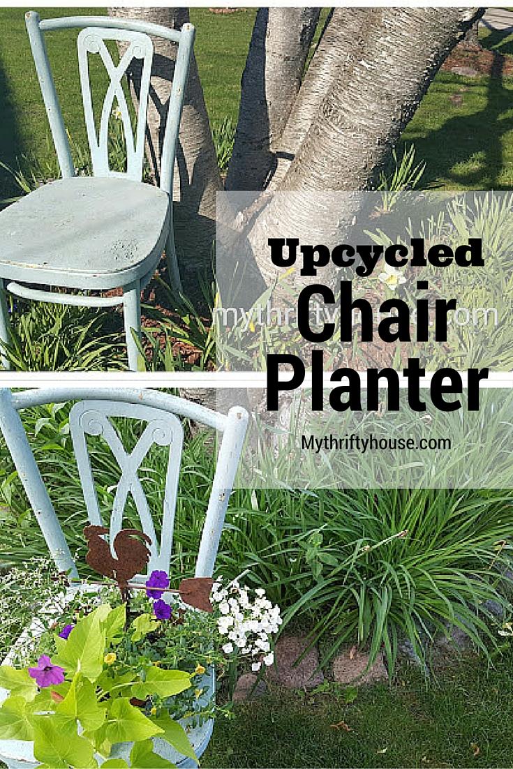 Chair planter collage pinterest