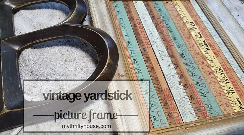 vintage yardstick picture frame supplies