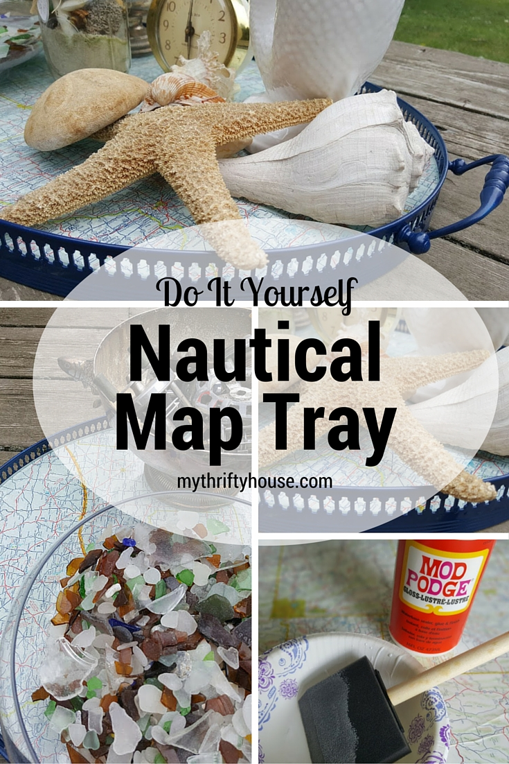 Do It Yourself Nautical Map Tray