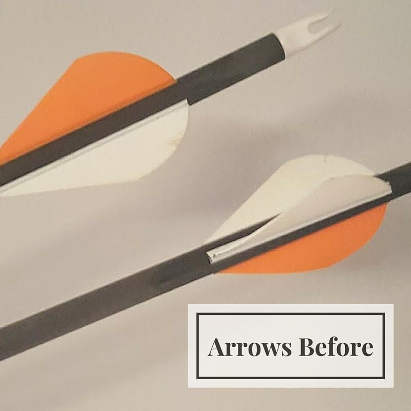 golden arrow bookends before arrows