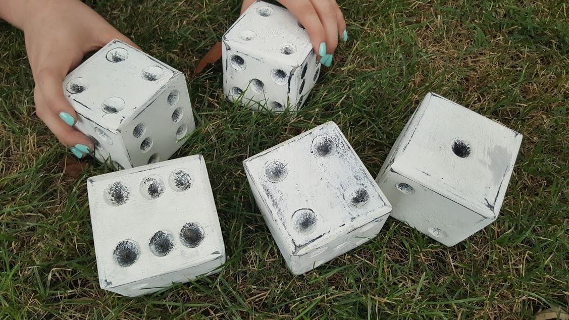 jumbo wooden dice