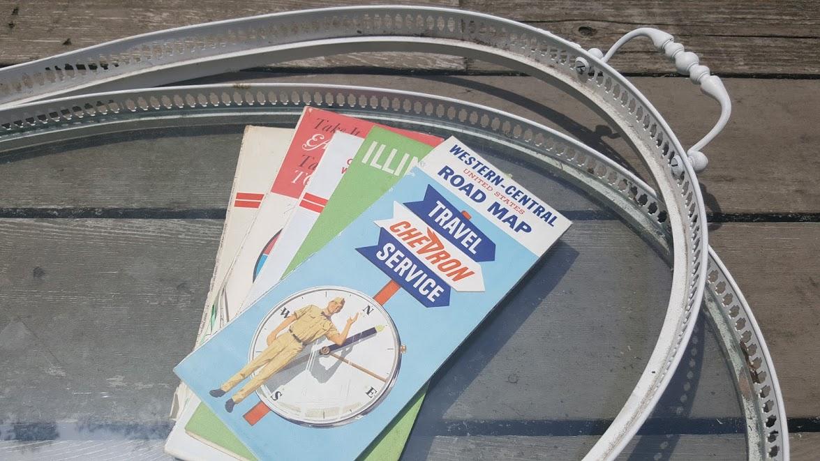 nautical map tray supplies