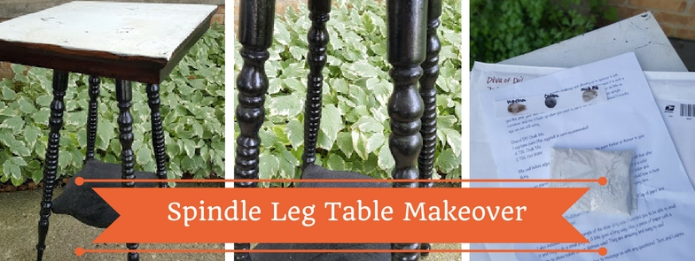 Spindle Leg Table Makeover supplies