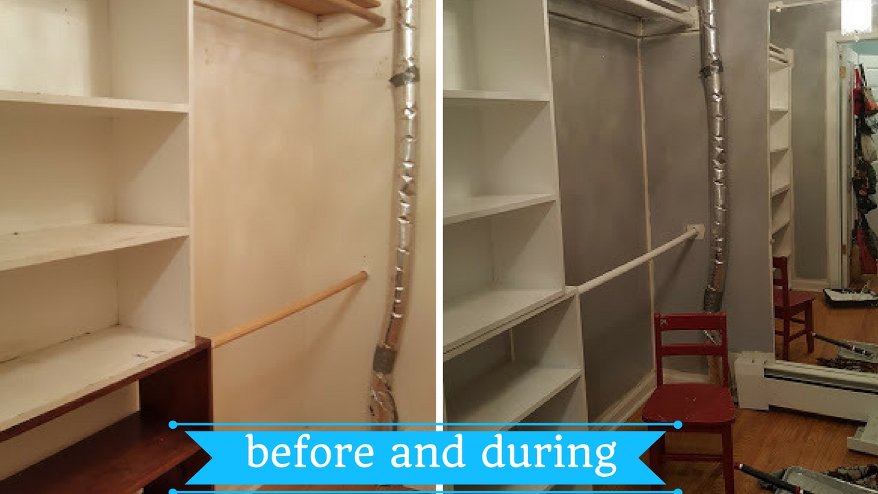 before-and-during-the-painting-of-the-closet-makeover