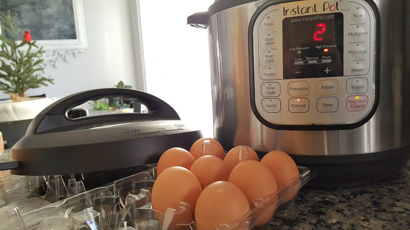 Perfectly peeled hard boiled eggs made in the Instant Pot.