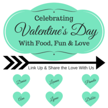 Celebrating Valentine's Day with a blogger link up party.