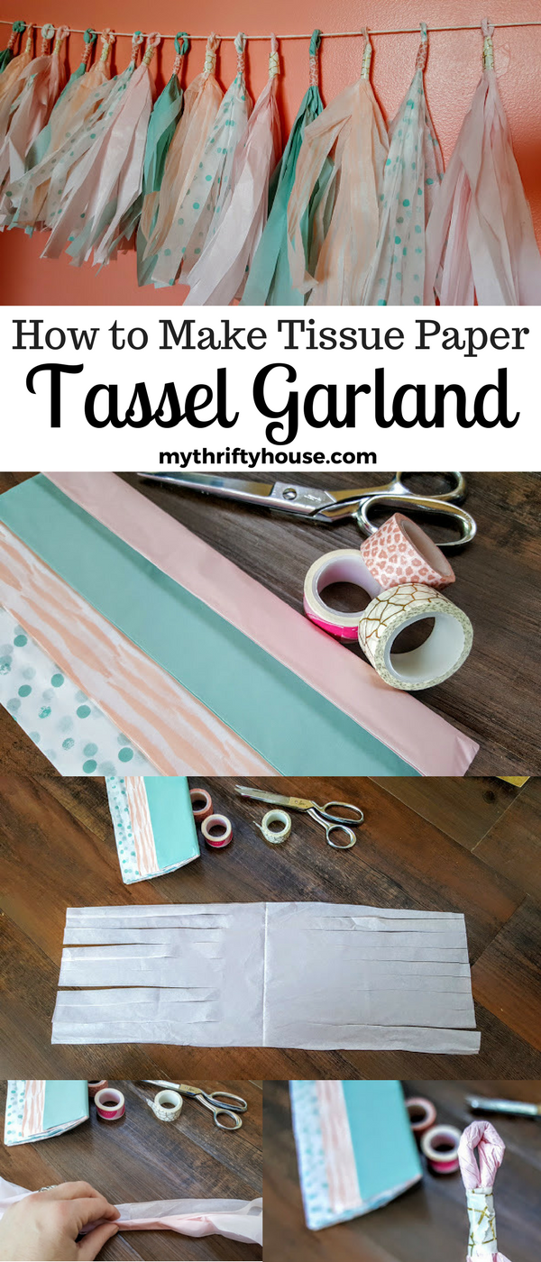 How to make tissue paper tassel garland with Ikea tissue papers.