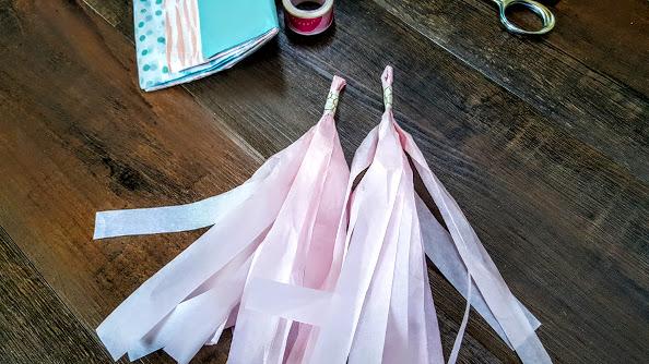 How to make tissue paper tassel garland