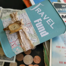 Travel fund coin bank