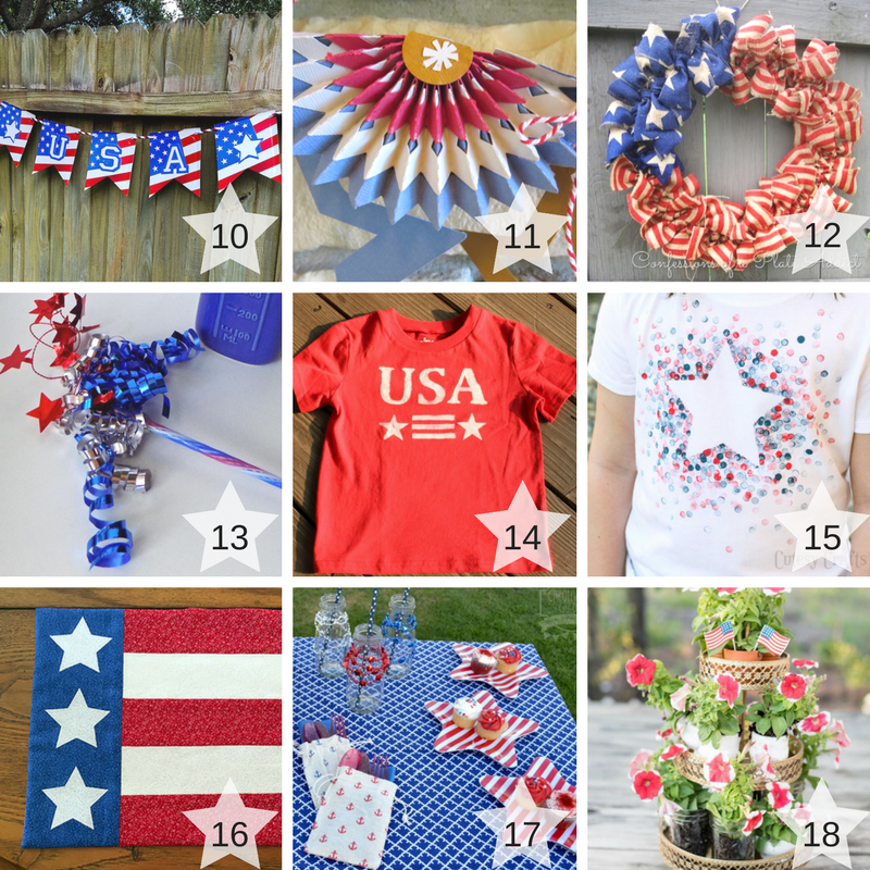 10-18 Patriotic Craft Projects Round Up