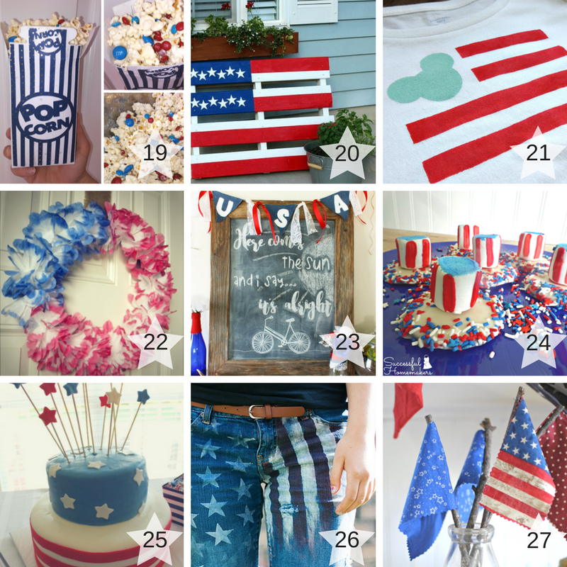 19-27 Patriotic Craft Projects Round Up