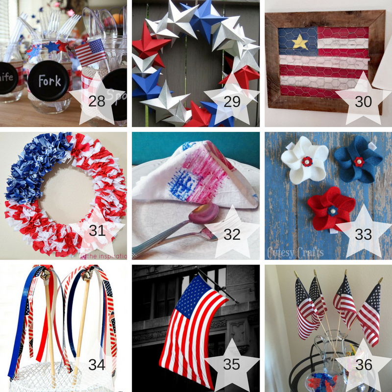 28-36 Patriotic Craft Projects Round Up