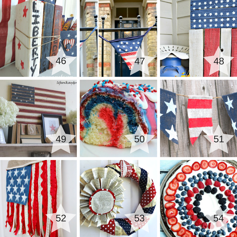 46-54 Patriotic Craft Projects round up