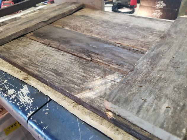 back of stenciled pallet wood sign