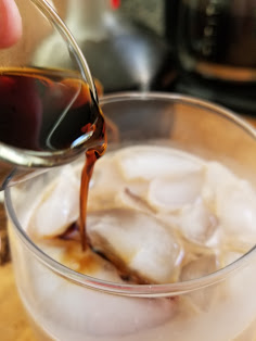 homemade iced coffee recipe for adults with a shot of Cafe Patron