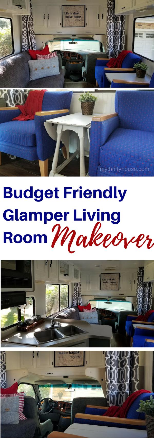 Budget Friendly Glamper Living Room Makeover