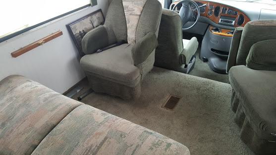 glamper living room makeover carpet and furntiure
