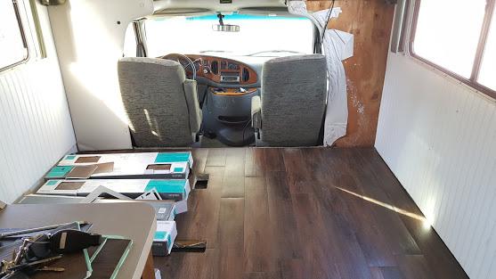 glamper living room makeover floor