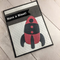 How to make Red rocket birthday cards