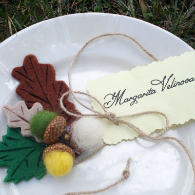 Inexpensive Fall Decor - Etsy - Place cards