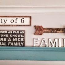 framed farmhouse sign gallery wall