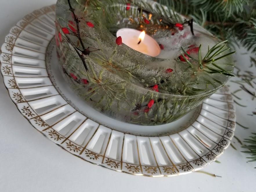 decorative ice bowl centerpiece