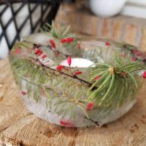 decorative ice bowl outside