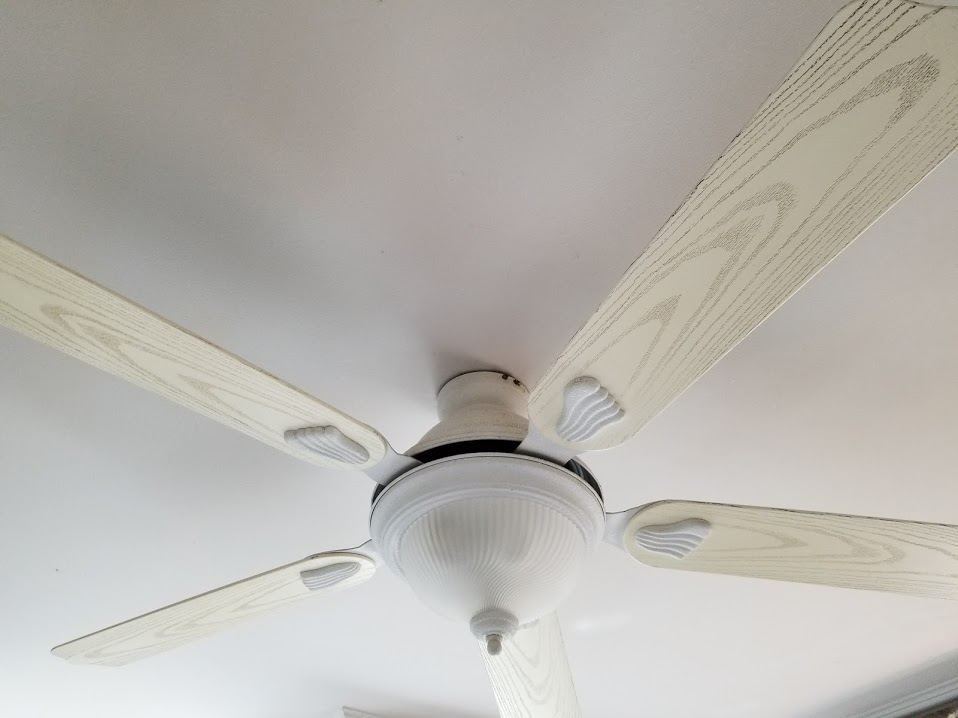 before ugly ceiling fan kitchen 3