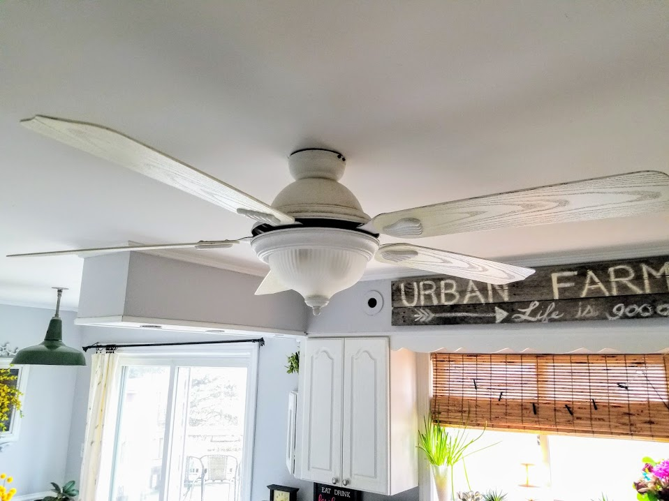before ugly ceiling fan kitchen 2