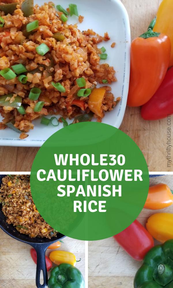 Amazing Whole30 Cauliflower Spanish Rice