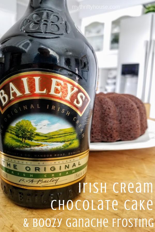 Bailey's Irish Coffee Chocolate Cake with Boozy Ganache Frosting