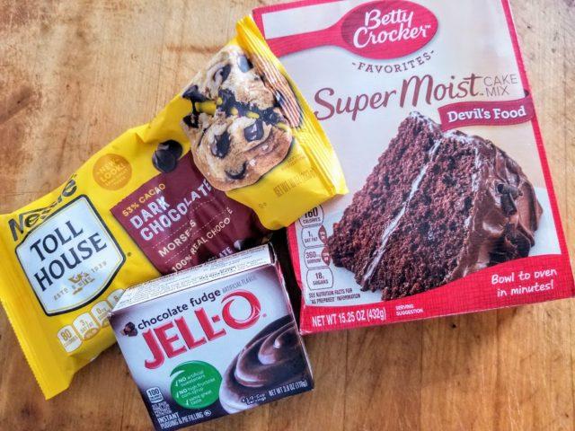 Ingredients for Irish Coffee Chocolate Cake