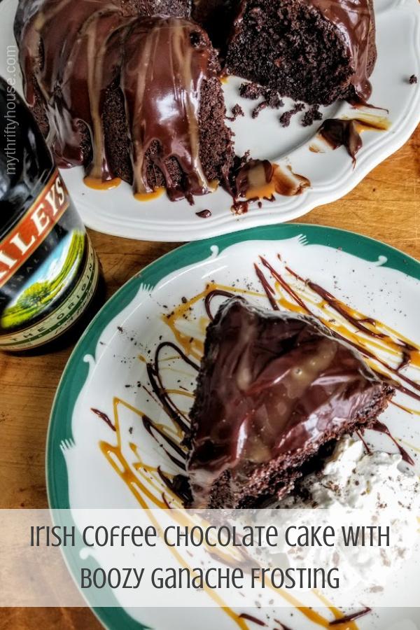 Irish Coffee Chocolate Cake with Boozy Ganache Frosting