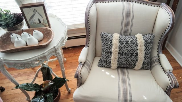 beautiful DIY deconstructed chair complete