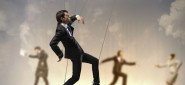 Business people marionette, business, people