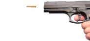 gun shooting bullet, 9 mm