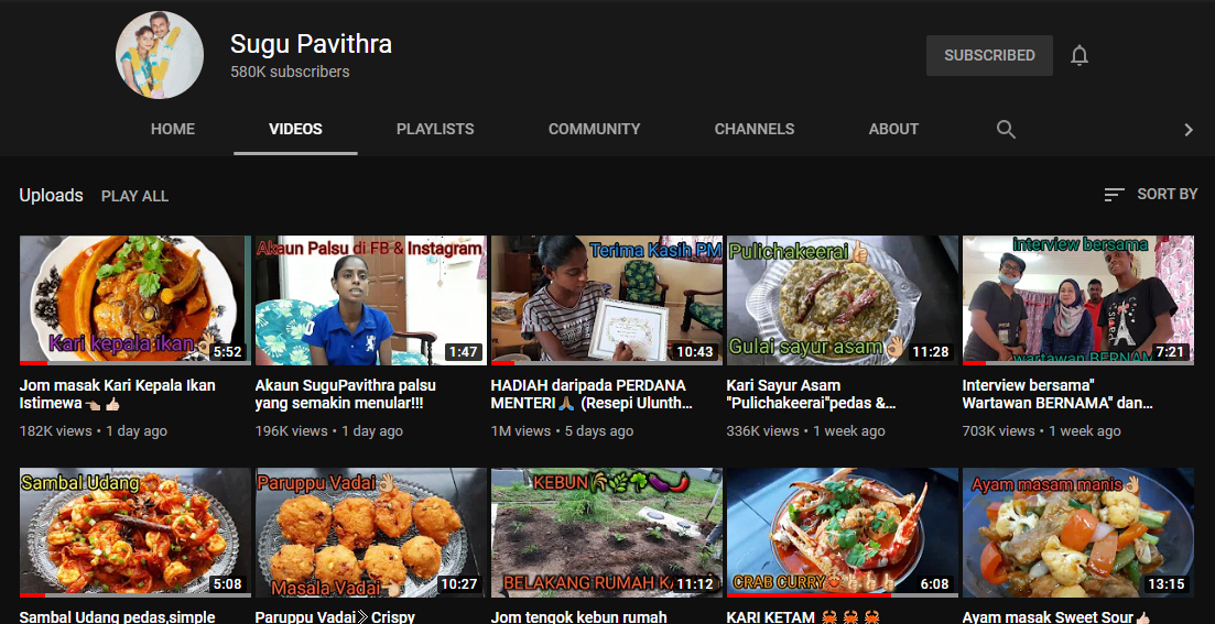 10 Video Terbaik Sugu Pavithra