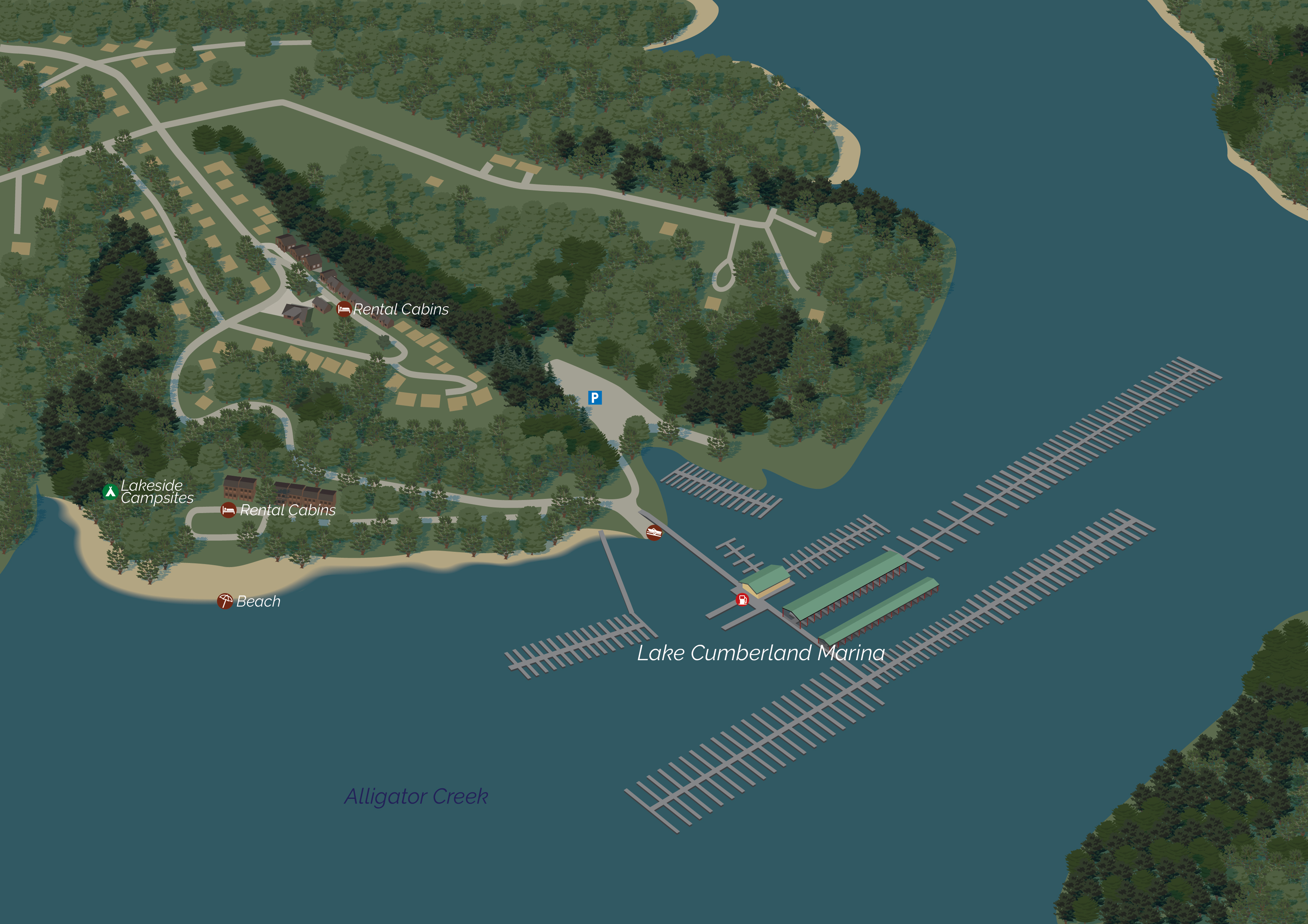 Lake Cumberland Marina MAP 3D