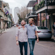 Strolling through the French Quarter