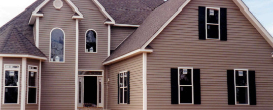 New Home – With Siding & Trim, Windows and Doors