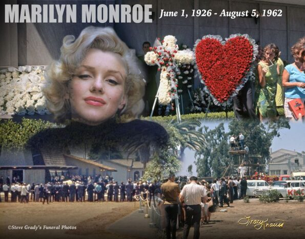 COLOUR PHOTOS EMERGE OF MONROE'S FUNERAL