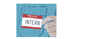 a picture of an intern name tag