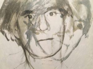sketch of andy warhol