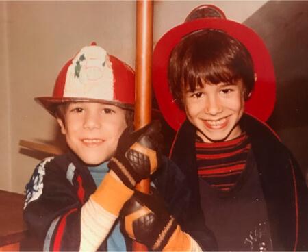 Anthony and Timothy Sweeney play life-saving firemen
