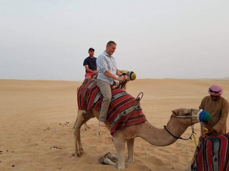 picture of man on a camel