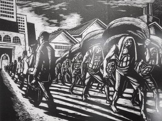 "Economic Conference–Leonilo ""Neil"" Dolirocon's socialist art at National Gallery Manila. The Philippines, Aug 2017. (Photo: Kandukuru Nagarjun)"