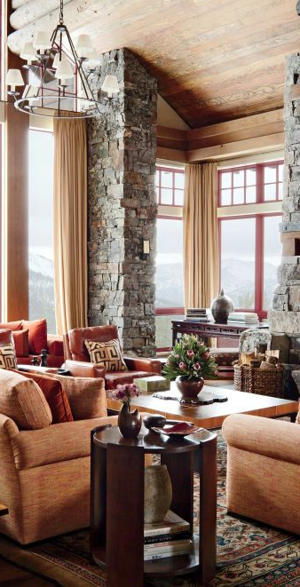 Rustic Living Room and Cabin Decor| Michael S Smith