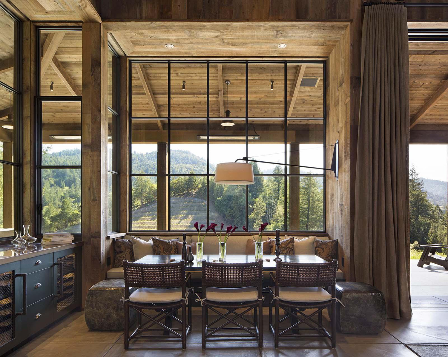 Log Homes Dining Room Ideas | Pearson Design Group
